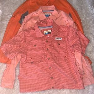 Three Magellan boys fishing shirts